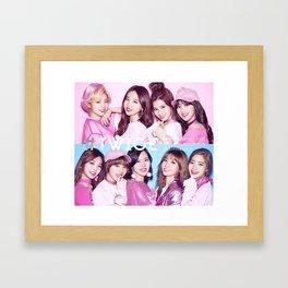 twice pink kpop Framed Art Print