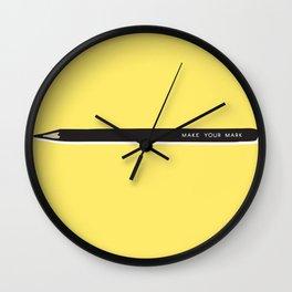 Make your mark pencil Wall Clock
