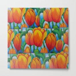 Frame Tulips Metal Print