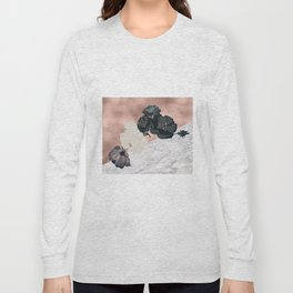 Floral marble rose gold Long Sleeve T-shirt