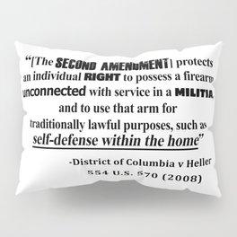 DC v Heller Second Amendment Case Law Pillow Sham