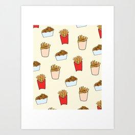Gimme Fries Art Print