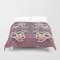 cyberpunk Duvet Covers featuring Calaabachti Arch Rosetta by Obvious Warrior