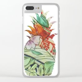 Pineapple fabric Clear iPhone Case