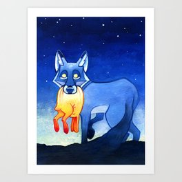 Night Takes the Day Art Print
