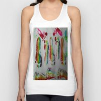 duvet cover Tank Tops featuring FOOTSTEPS DUVET COVER DESIGN by aztosaha