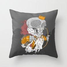 The Four Horsemen of the Apocalypse (White) Throw Pillow