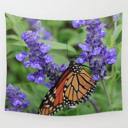 Purple Flowers & Butterfly Wall Tapestry