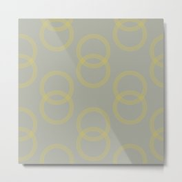 Simply Infinity Link Mod Yellow on Retro Gray Metal Print