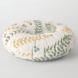 Spring Leaf Pattern Floor Pillow