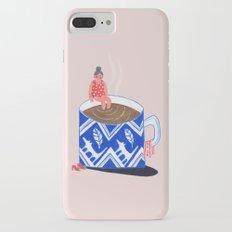 Morning Coffee swim iPhone 7 Plus Slim Case