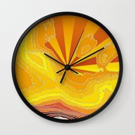 Satisfaction,fire Wall Clock