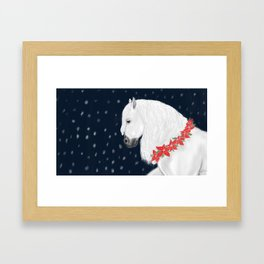 Christmas Horse Framed Art Print