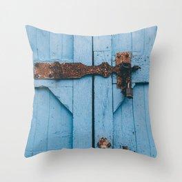 Blue Lock Throw Pillow