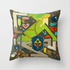 Zelda Art Design Throw Pillow