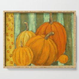 Five Pumpkins Serving Tray