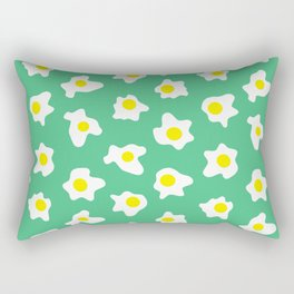 Eggs Over Green Rectangular Pillow