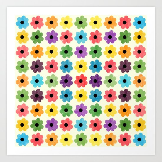 Colorful Floral Pattern IV Art Print