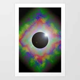 Eclipsed Eye Art Print