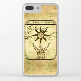 Praise The Sun - Tarot Solaire Clear iPhone Case