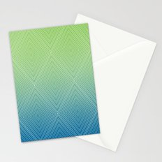 Diamonds (GreenFlashSnorkelBlue Fade) Stationery Cards