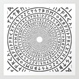Runic Tunnel Art Print
