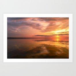Twilight Sky in Colorful Bright Sunlight Art Print