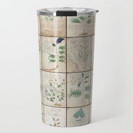 The Voynich Manuscript Quire 1 - Natural Travel Mug