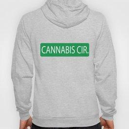 Cannabis Circle Street Sign Hoody