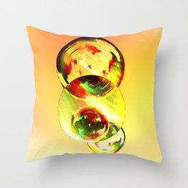 geometric sunset Throw Pillow