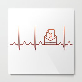 Mail Carrier Heartbeat Metal Print