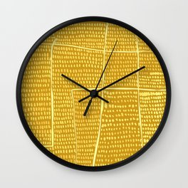 Categorize Print in Yellow Wall Clock