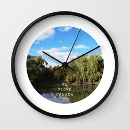 We #LOVE Canada! Wall Clock