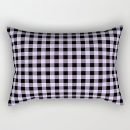 Chalky Pale Lilac Pastel and Black Buffalo Check Rectangular Pillow