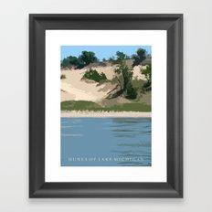 Dunes of Lake Michigan Framed Art Print