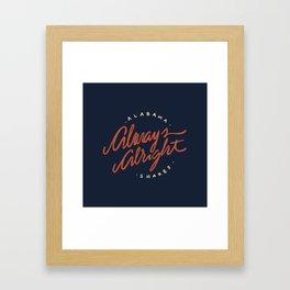 Alabama Shakes Framed Art Print