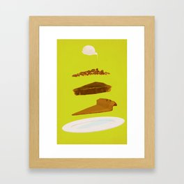 Pecan Framed Art Print