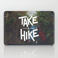 backpack iPad Cases featuring Take A Hike by Zeke Tucker