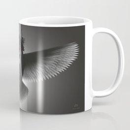 Strange Hummingbird 2A. Black, white & grey.(Red eyes series) Coffee Mug