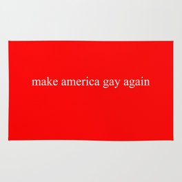 Make America Gay Again (red) Rug
