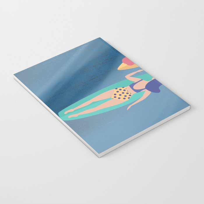 Surf Sisters - Muted Ocean Color Girl Power Notebook