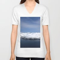 alaska V-neck T-shirts featuring Whitter, Alaska by Chris Root