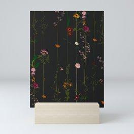 Floral Wallroll - Dark Mini Art Print