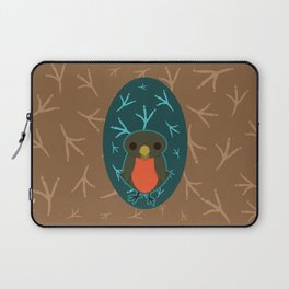 Robin with Foot Prints Laptop Sleeve