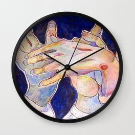 Hands of Anguish Wall Clock