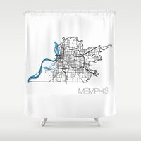 memphis Shower Curtains featuring Memphis by linnydrez