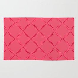 Punch pink squares pattern. Rug