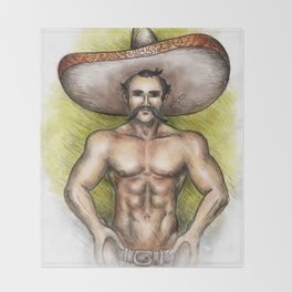 Sexy Mexican Revolutionary Throw Blanket