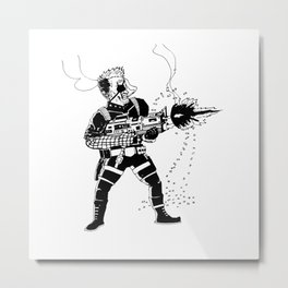 Shoot 'Em Up Metal Print