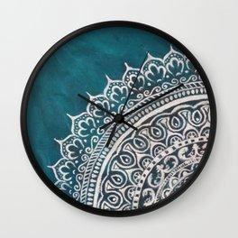 Jade Mandala Wall Clock
